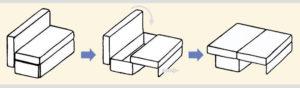 диван конструкция Еврокнижка