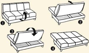 диван конструкция книжка
