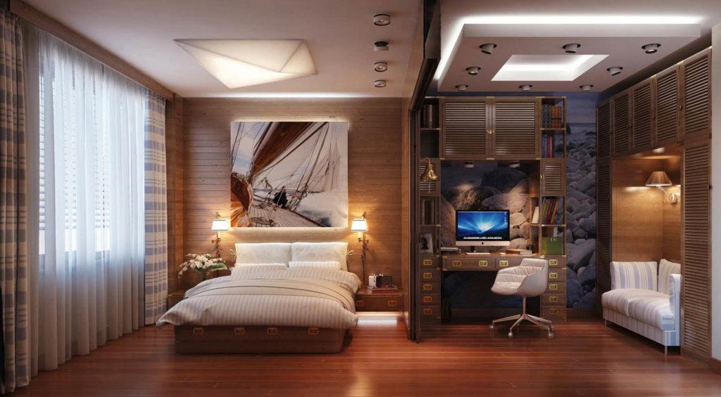 Кабинет в спальне