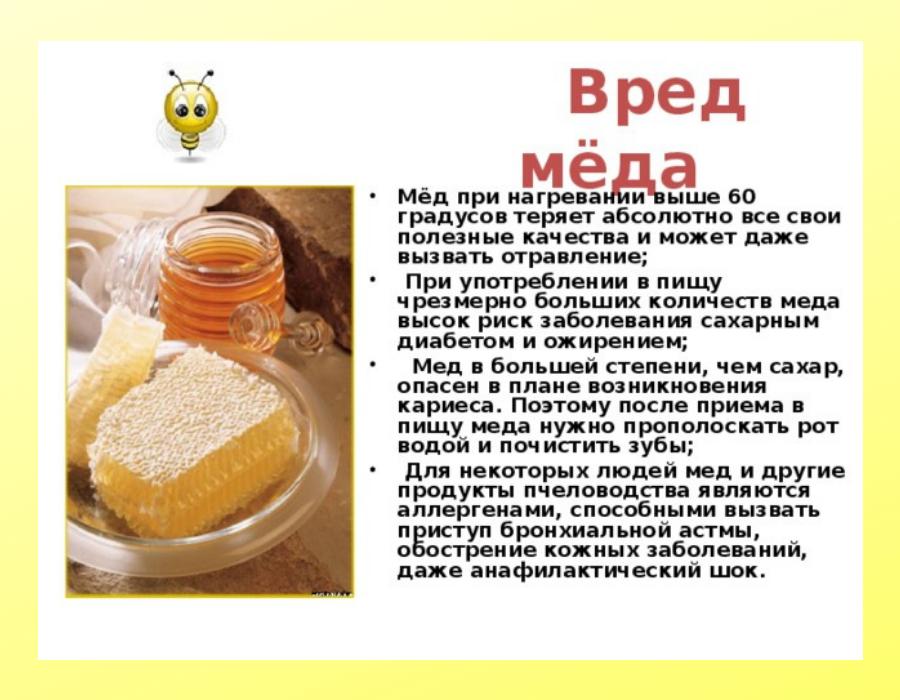 Вред меда