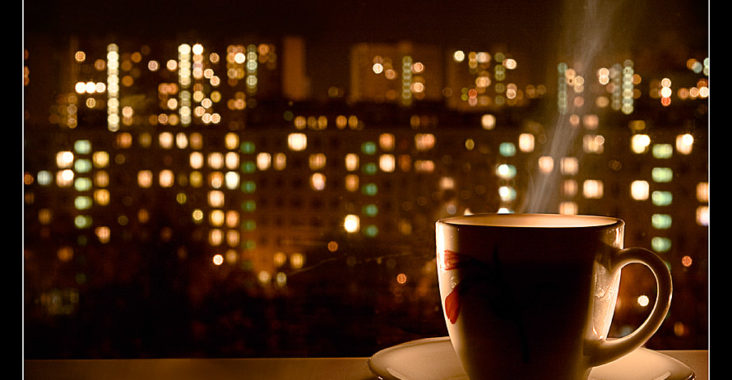 Вечер, чашка кофе