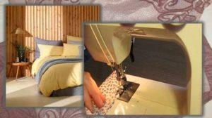 Постельное белье и швейная машинка