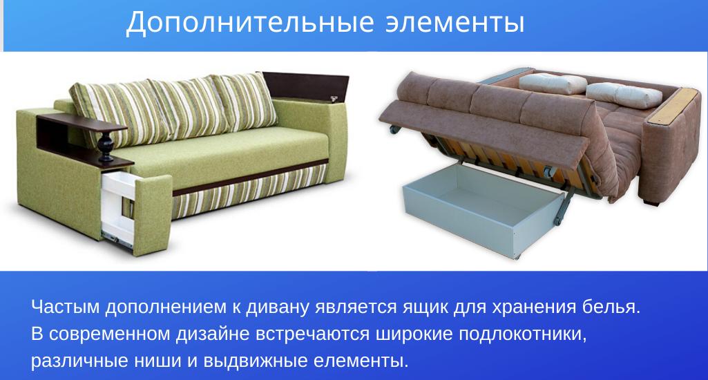Дополнительные элементы дивана