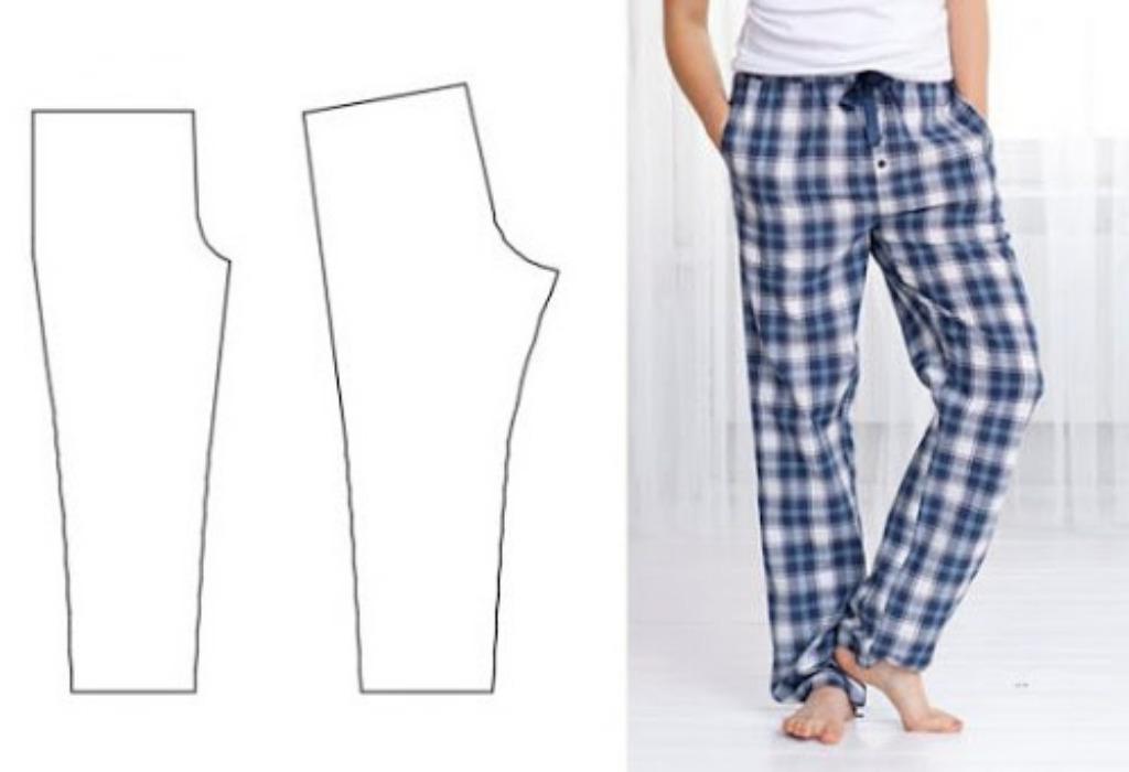 Выкройка пижамных штанов