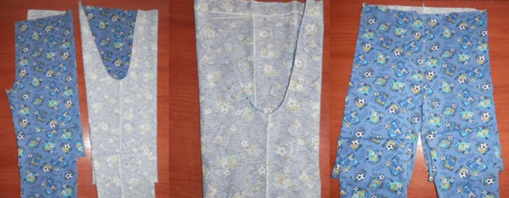 Этапы пошива пижамных штанов