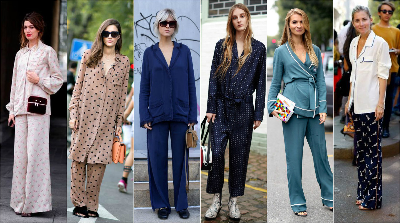 Женщины в костюмах-пижамах