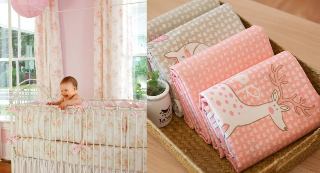 ткани, ребенок в кроватке