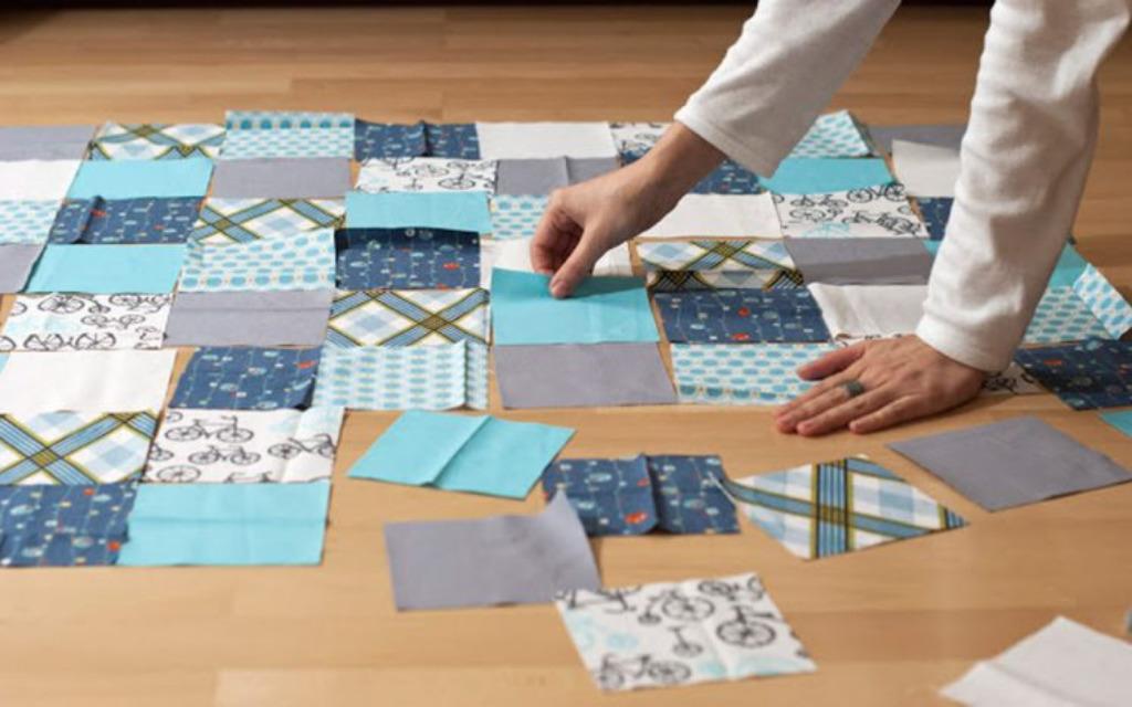 квадратные заготовки для одеяла